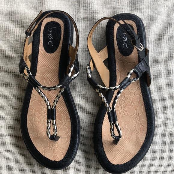 25af01ad764e6 Born Shoes - BOC Born Palti Sandal black gold Braid Size Sz 9 M